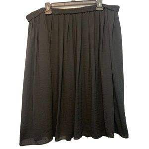 Joe Fresh Midi Skirt Lightweight Black